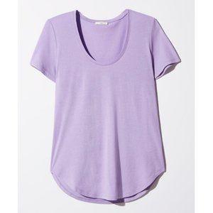 Aritzia TNA Freising Light Lavender Purple T-Shirt